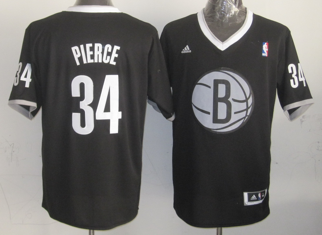 Nets 34 Pierce Black Christmas Edition Jerseys