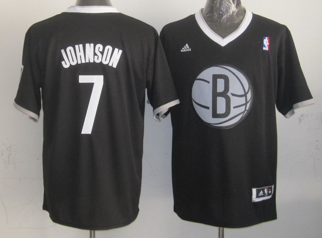 Nets 7 Johnson Black Christmas Edition Jerseys