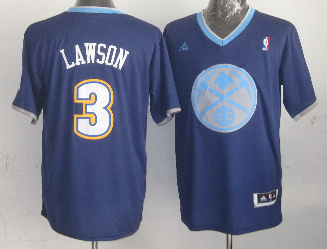 Nuggets 3 Lawson Blue Christmas Edition Jerseys