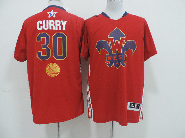 2014 All Star West 30 Curry Red Swingman Jerseys