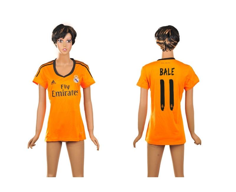 2013-14 Real Madrid 11 Bale Third Away Women Thailand Jerseys