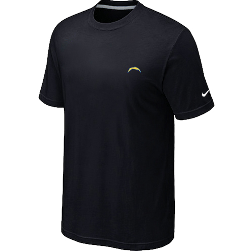 Nike San Diego Chargers Chest Embroidered Logo T Shirt Black