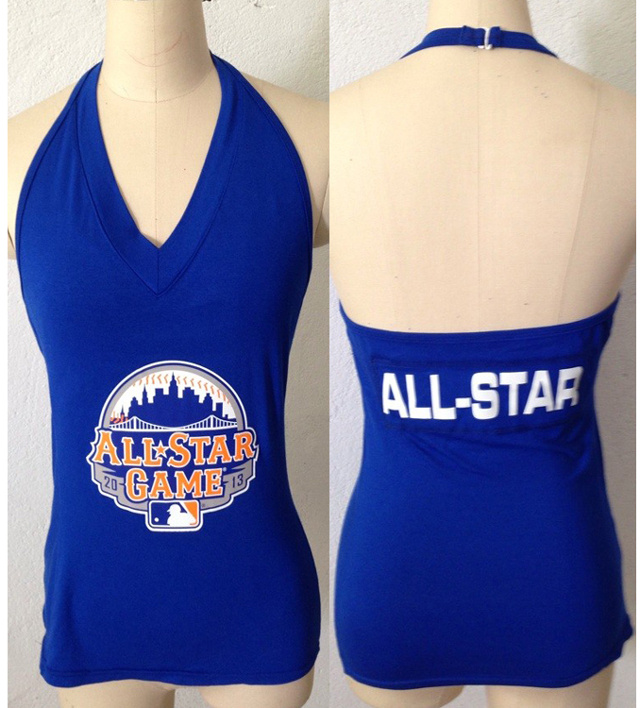 All Star Blue Women's Blown Cover Halter Top