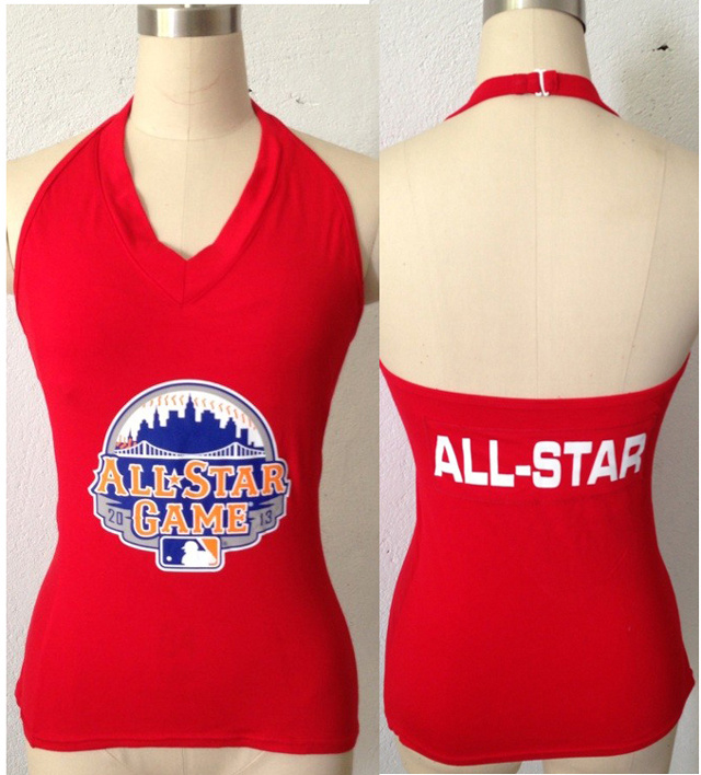 All Star Red Women's Blown Cover Halter Top