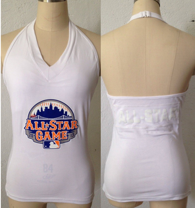 All Star White Women's Blown Cover Halter Top
