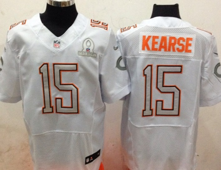 Nike Bears 15 Kearse White 2014 Pro Bowl Jerseys
