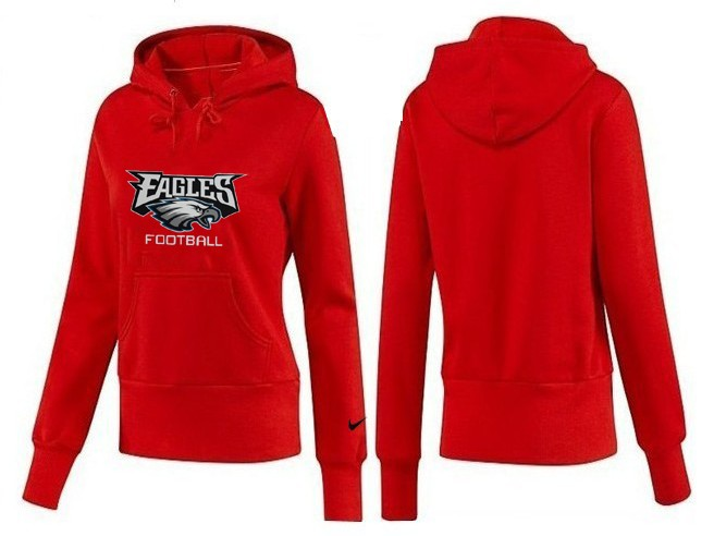 Nike Eagles Team Logo Red Women Pullover Hoodies 04