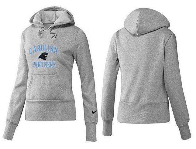 Nike Panthers Team Logo Grey Women Pullover Hoodies 02