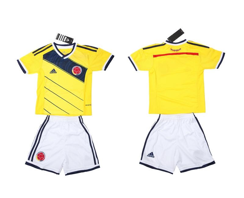 2014 World Cup Columbia Home Kids Jerseys