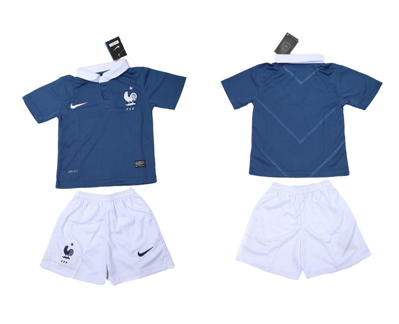 2014 World Cup France Home Kids Jerseys
