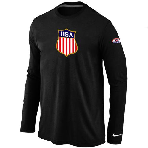 Nike Team USA Hockey Winter Olympics KO Collection Locker Room Long Sleeve T Shirt Black
