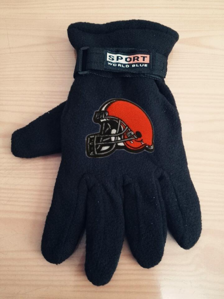 Browns Winter Velvet Warm Sports Gloves3