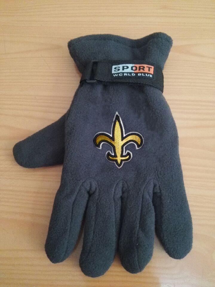 Saints Winter Velvet Warm Sports Gloves