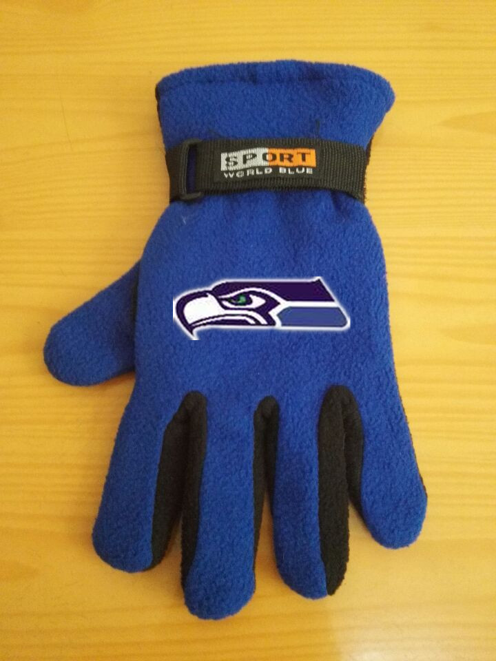 Seahawks Winter Velvet Warm Sports Gloves2