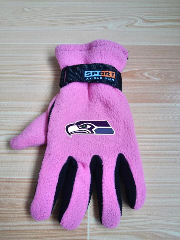 Seahawks Winter Velvet Warm Sports Gloves6