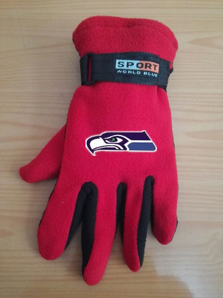 Seahawks Winter Velvet Warm Sports Gloves7