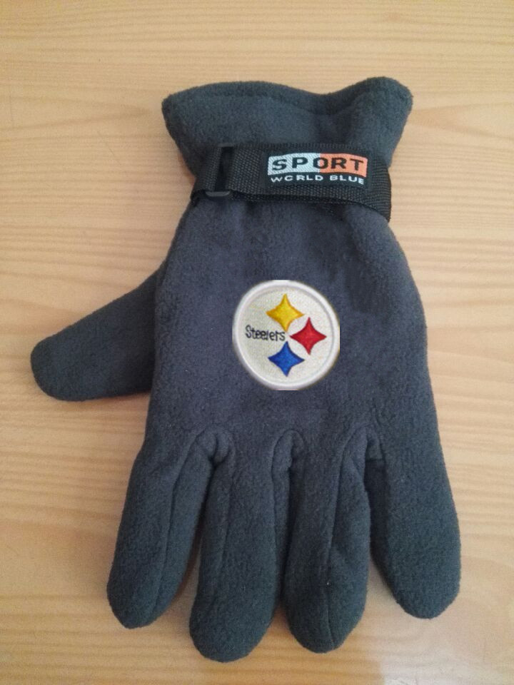 Steelers Winter Velvet Warm Sports Gloves