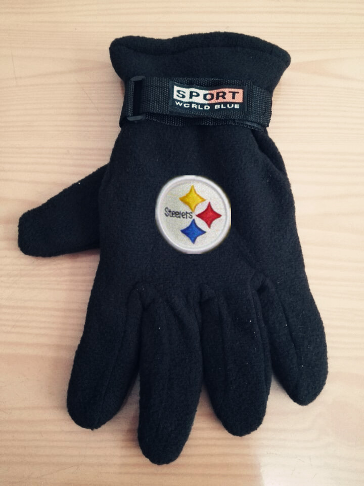 Steelers Winter Velvet Warm Sports Gloves3