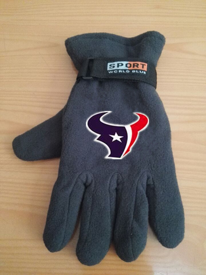 Texans Winter Velvet Warm Sports Gloves