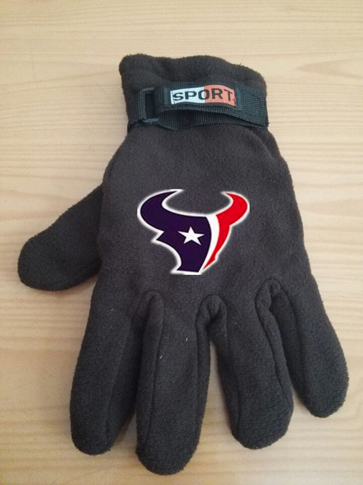 Texans Winter Velvet Warm Sports Gloves9