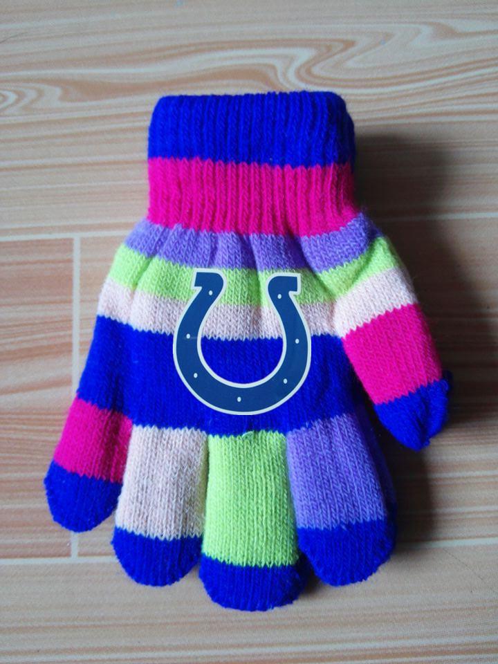 Colts Kids Knit Gloves