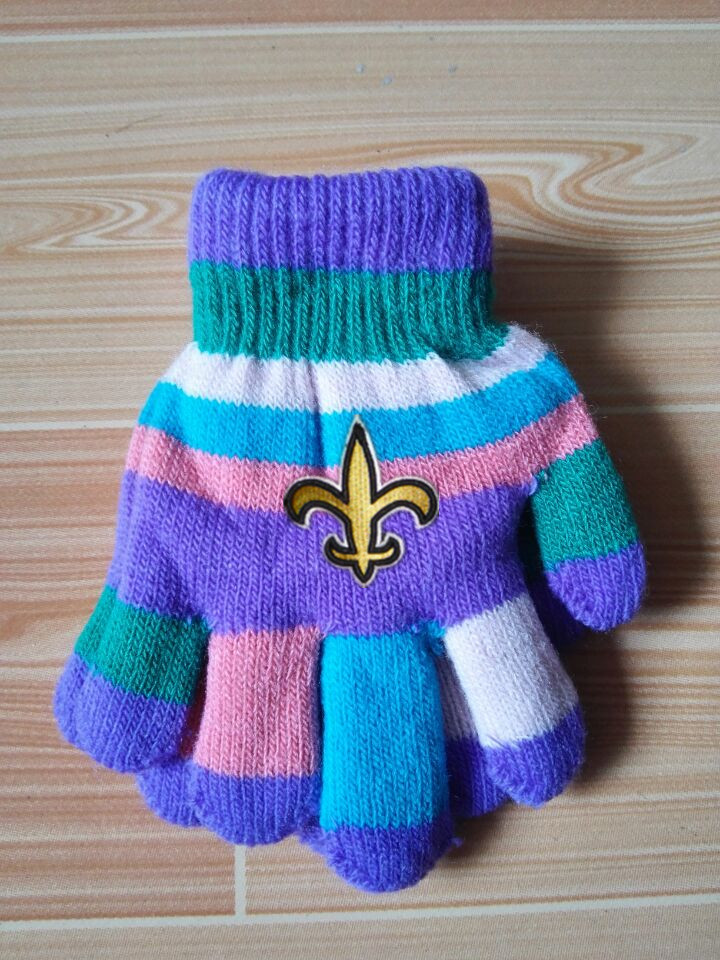 Saints Kids Knit Gloves5