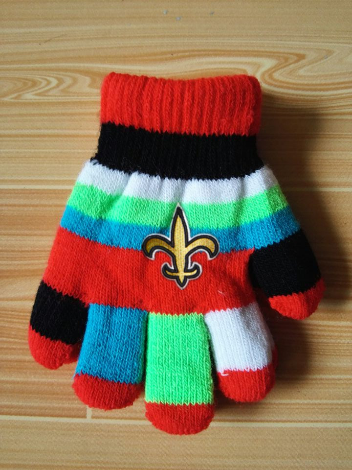 Saints Kids Knit Gloves6