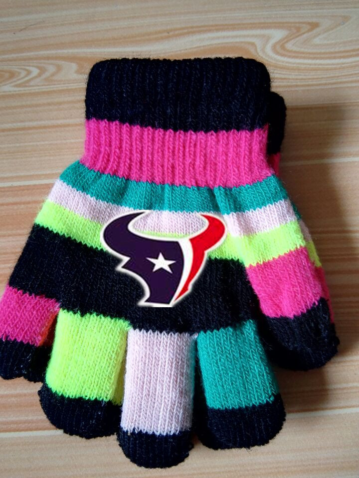 Texans Kids Knit Gloves3