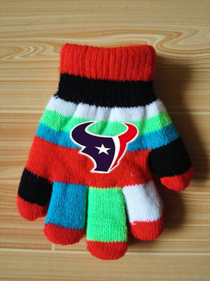Texans Kids Knit Gloves6