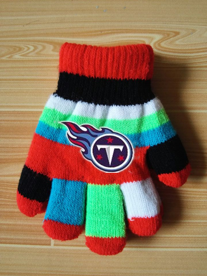 Titans Kids Knit Gloves6