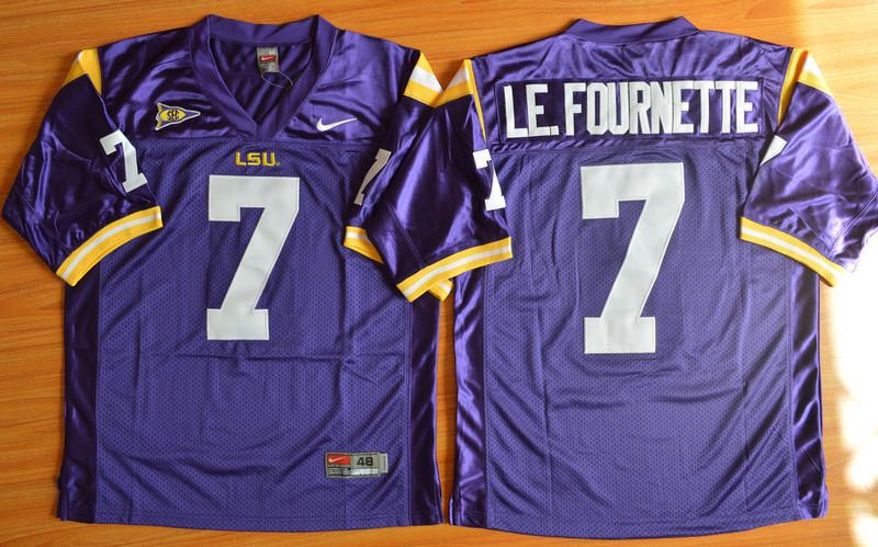 LSU Tigers 7 Le.Fournette Purple College Jersey