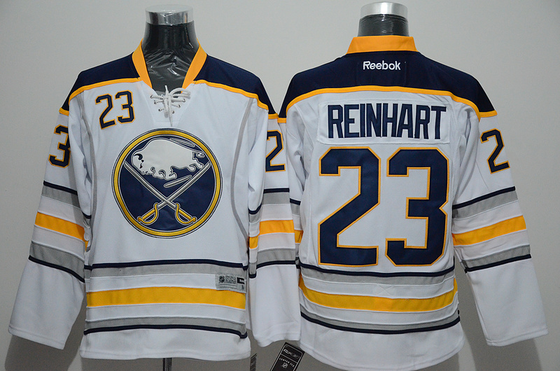Sabres 23 Sam Reinhart White Reebok Jersey