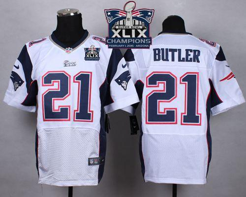 Nike Patriots 21 Butler White 2015 Super Bowl XLIX Champions Elite Jerseys