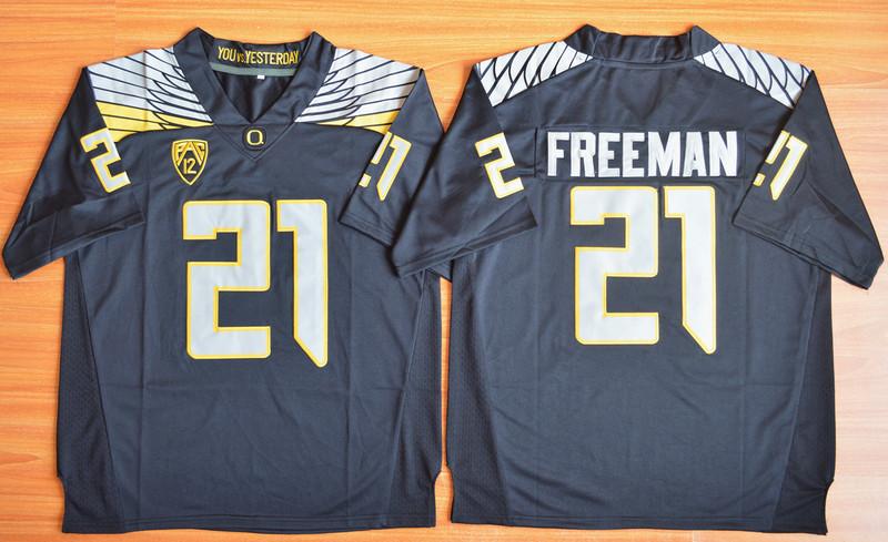 Oregon Ducks 21 Royce Freeman Black College Jersey