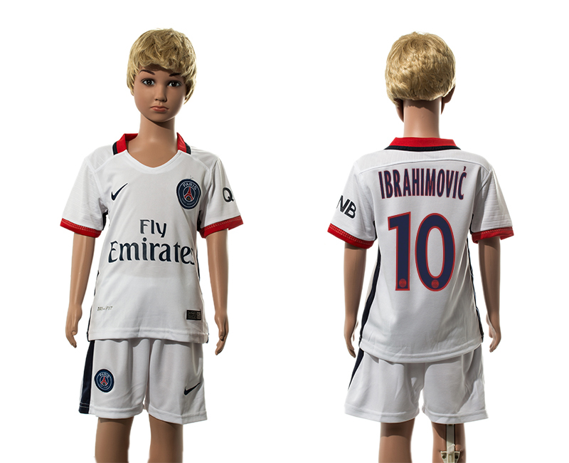 2015-16 Paris Saint-Germain 10 IBRAHIMOVIC Away Youth Jersey
