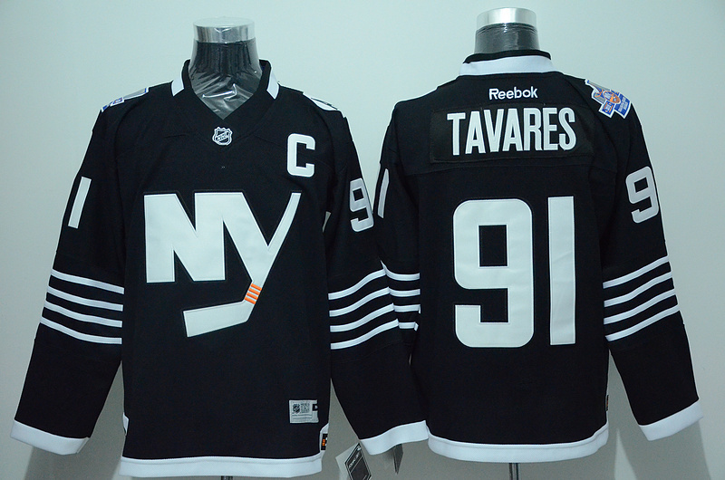 Islanders 91 John Tavares Black Reebok Jersey