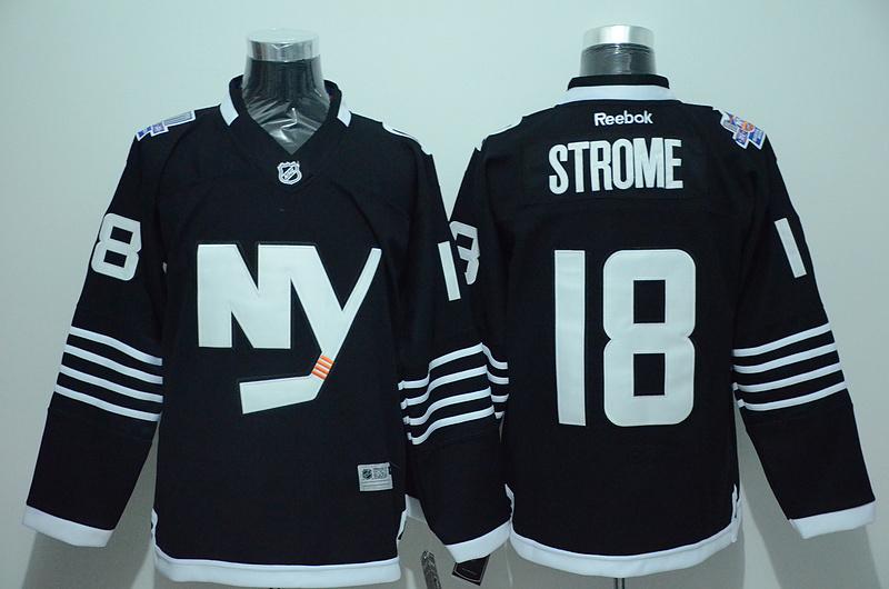 Islanders 18 Ryan Strome Black Reebok Jersey
