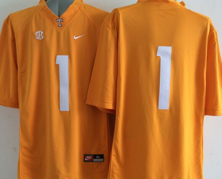 Tennessee Volunteers #1 Yellow College Jersey