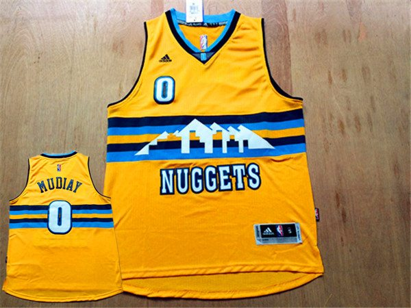 Nuggets 0 Emmanuel Mudiay Yellow New Revolution 30 Jersey