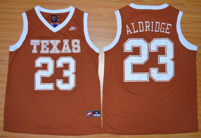 Texas Longhorns 23 LaMarcus Aldridge Orange Basketball College Jersey