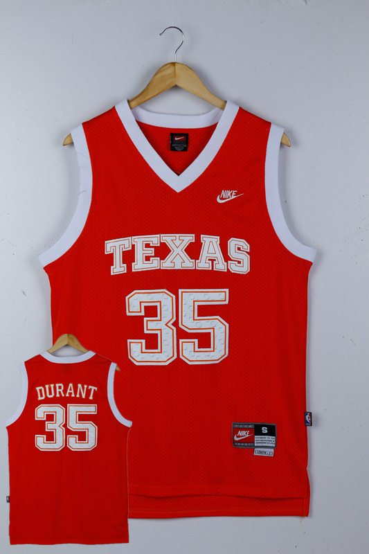 Texas Longhorns 35 Kevin Durant Orange College Jersey