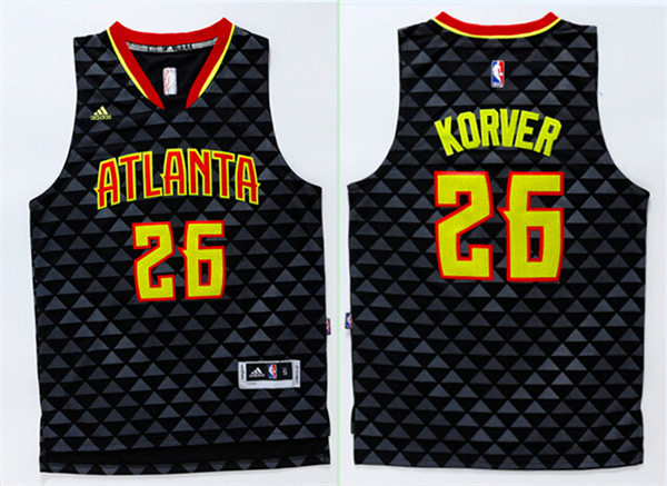 Hawks 26 Kyle Korver Black Swingman Jersey