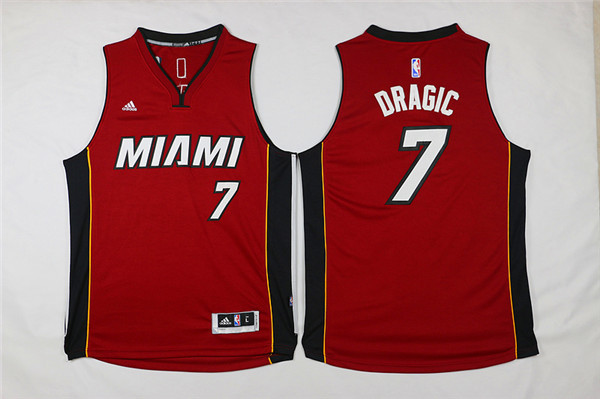 Heat 7 Goran Dragic Red Swingman Jersey