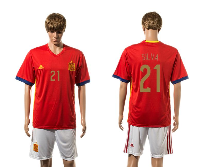 2015-16 Spain 21 SILVA Home Jersey