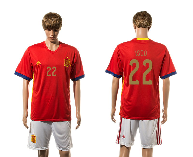 2015-16 Spain 22 ISCO Home Jersey
