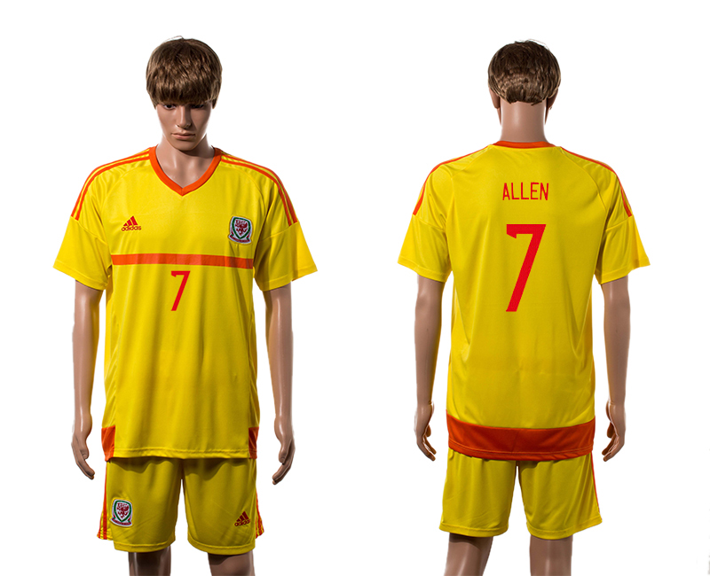 2015-16 Wales 7 ALLEN Away Jersey