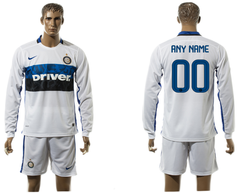 2015-16 Inter Milan Away Customized Long Sleeve Jersey