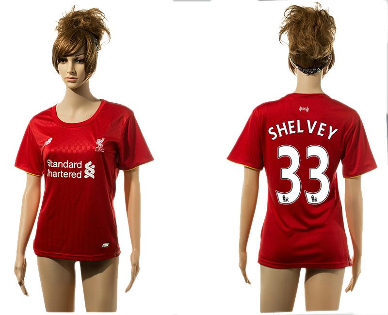 2015-16 Liverpool 33 SHELVEY Home Women Jersey