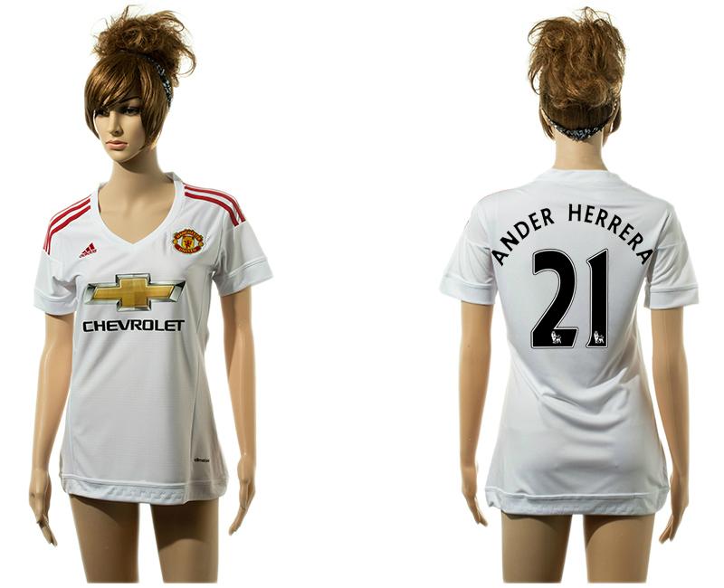2015-16 Manchester United 21 ANDER HERRERA Away Women Jersey
