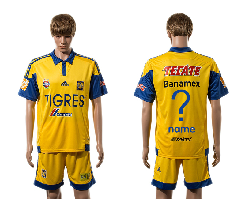 2015-16 Tigres UANL Home Customized Jersey